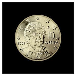 10 ¢ - Effigie de Rigas Féréos