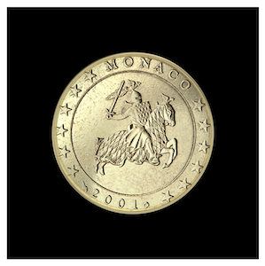 10 ¢ -  Le sceau du Prince Rainier III