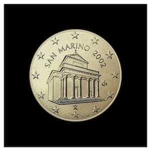 10  ¢ - The Basilica of San Marino