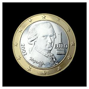 1 € -  Wolfgang Amadeus Mozart