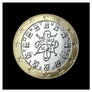 1 € -  Le sceau royal de 1144