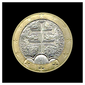 1 € - Double cross and three hills