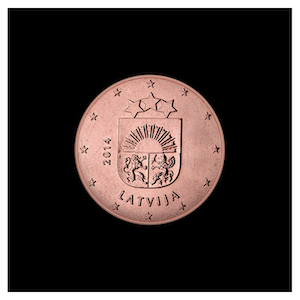 1 ¢ - Petites armoiries de la Lettonie