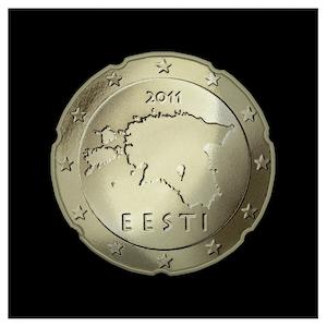 20 ¢ - Contours of Estonia