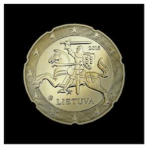 20 ¢ - The knight VYTIS