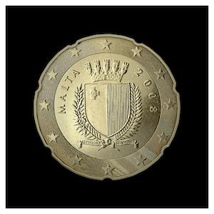 20 ¢ - Armoiries de Malte