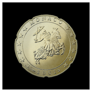 20 ¢ - The Prince Rainier III Seal
