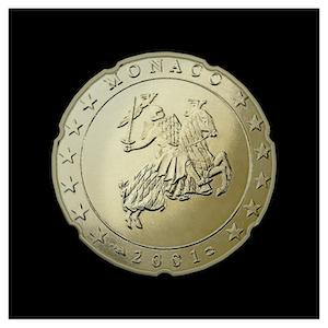 20 ¢ -  Le sceau du Prince Rainier III