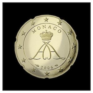 20 ¢ -  Le sceau du Prince Albert II