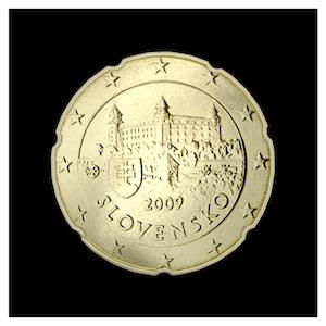 20 ¢ - Le château de Bratislava