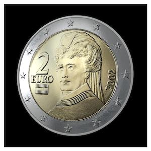 2 € - Baroness von Suttner