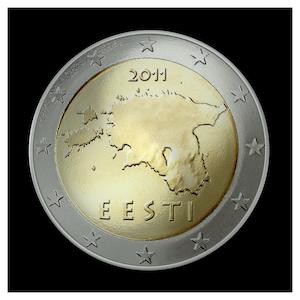 2 € - Contours de l'Estonie