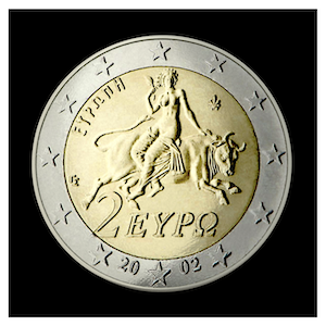 2 € - Abduction of Europe by Zeus