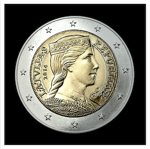 2 € - Allegory of Latvia