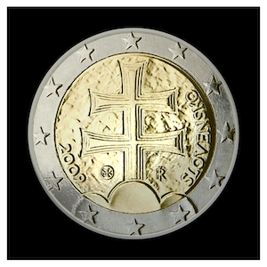 2 € - Double cross and three hills