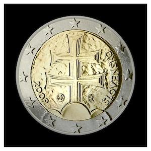 2 € - Double croix et trois collines