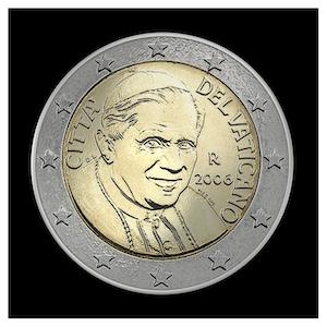 2 € - Benoît XVI