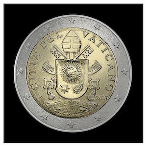 2 € - Armoiries Pape François