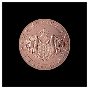 2 ¢ - The coat of arms of the Sovereign Princes of Monaco