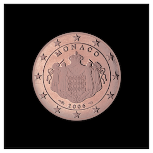 2 ¢ -The coat of arms of the Sovereign Princes of Monaco