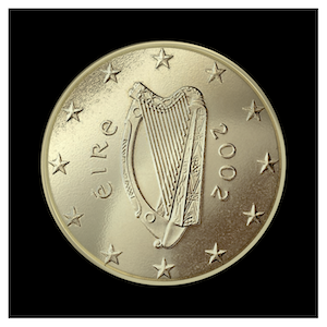 50 ¢ - Celtic harp