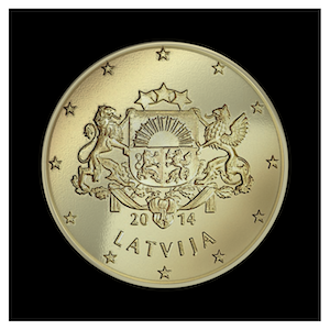 50 ¢ - Great Coat of Arms of Latvia