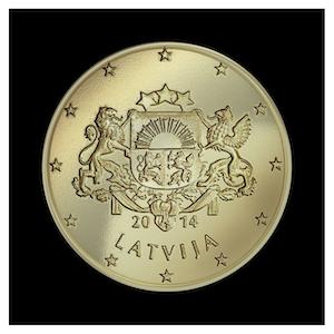 50 ¢ - Grandes armoiries de la Lettonie