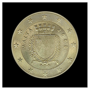 50 ¢ - Coat of Arms of Malta