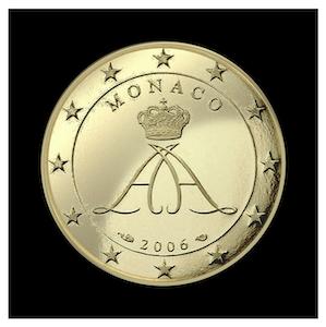 50 ¢ -  Le sceau du Prince Albert II