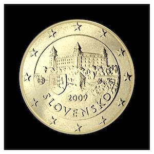 50 ¢ - Le château de Bratislava