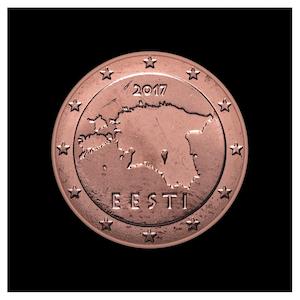 5 ¢ - Contours of Estonia