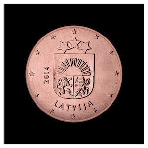 5 ¢ - Small Arms of Latvia