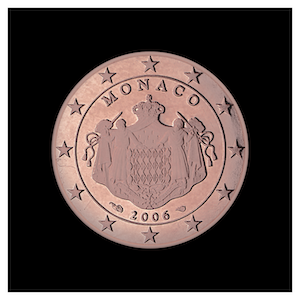 5 ¢ -The coat of arms of the Sovereign Princes of Monaco