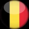 Belgium flag 3d round small