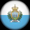 San marino flag 3d round small