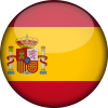 Spain flag 3d round small